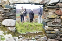 At Torradale deserted settlement on Islay for Archaeology Scotland 'Homeland' project.